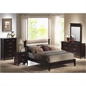 Coaster Kendra Platform Bed 5 Piece Bedroom Set in Mahogany