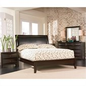 Coaster Phoenix Platform Bed 4 Piece Bedroom Set in Cappuccino