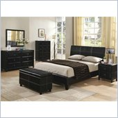 Coaster Desiree Queen Upholstered Platform Bed 5 Piece Bedroom Set