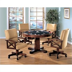 Coaster Marietta 3-in1- Game Table 5 Piece Set in Dark Oak