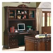 Coaster Union Hill Desk and Hutch in Rich Brown