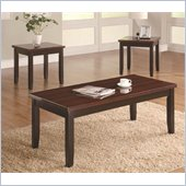 Coaster 3-Piece Faux Rosewood Coffee and End Table