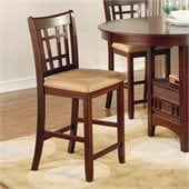 Coaster Lavon 24 Inch Bar Stool in Rich Dark Cherry Finish