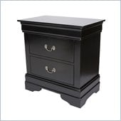 Coaster Louis Philippe Nightstand in Black