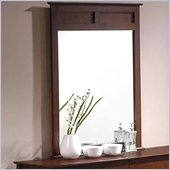 Coaster Tamara Panel Crown Mirror in Dark Walnut
