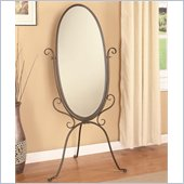 Coaster Accent Cheval Dressing Mirror in Pewter