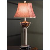 Coaster Fabric Shade Table Lamp in Cranberry Fabric