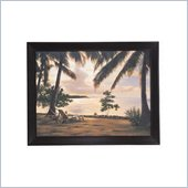Coaster Wall Art Painting - Under the Palm Tress