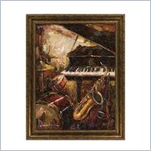 Coaster Wall Art Painting - Saxophone Fantasy