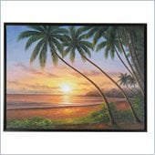 Coaster Wall Art Painting - Sunset Beach