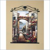 Coaster Wall Art Painting - Flores Y El Puente