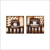Coaster 2-Piece Wall Art - Coffee Time