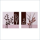Coaster 2-Piece Wall Art - Mauve Branches