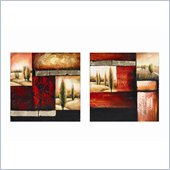 Coaster 2-Piece Wall Art - Sunset Trees
