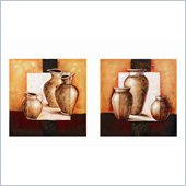 Coaster 2-Piece Wall Art - Pottery Still Life