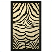 Coaster Zebra Pattern Bordered Rug