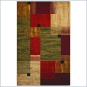 Coaster Multicolored Rectangles Pattern Rug