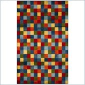 Coaster Multicolored Check Rug
