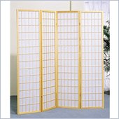 Coaster Four Panel Screen Room Divider in Natural