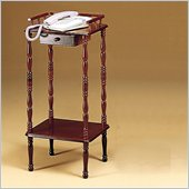 Coaster Accent Stands Telephone Stand With Drawer and Shelf in Cherry