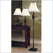 Coaster Three Piece Lamp Set in Dark Brown
