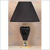 Coaster Pumpkin Shaped Table Lamp in Black