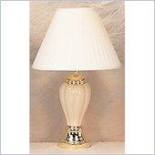 Coaster Pumpkin Shaped Table Lamp in Beige