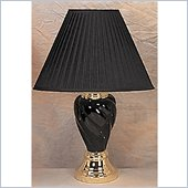 Coaster Spiral Shaped Table Lamp in Black