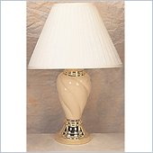 Coaster Spiral Shaped Table Lamp in Beige