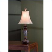 Coaster Table Lamp in Wood and Antique Silver
