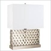 Coaster Contemporary Table Lamp in Brushed Steel