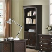 Coaster Garson Open Bookcase with Storage Cabinet Base in Cappuccino