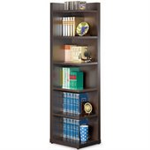Coaster Corner Bookcase with Open Side in Cappuccino
