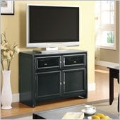 Coaster Extendable Black TV Console Cabinet  in Black