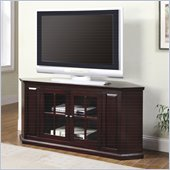 Coaster 55 Two Door Corner TV Stand in Cherry