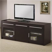 Coaster Contemporary TV Console in Cappuccino
