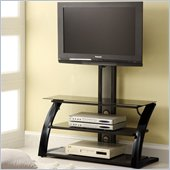 Coaster TV Stand with Hanging Support in Black
