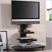 Coaster Contemporary Tiered Media Console with Bracket in Gunmetal