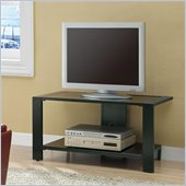 Coaster Black TV Stand with Shelf in Black