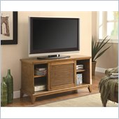 Coaster TV Console with 2 Shelves & Sliding Doors in Oak