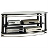 Coaster Curved TV Stand in Black and Silver