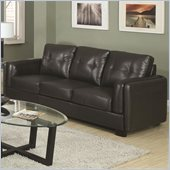 Coaster Sawyer Contemporary Double Arm Sofa in Charcoal