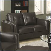 Coaster Sawyer Contemporary Loveseat with Tufted Cushions in Charcoal