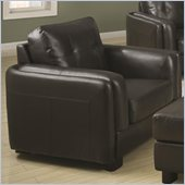 Coaster Sawyer Contemporary Double Arm Chair in Charcoal