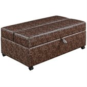 Coaster Storage Bench with Fold Out Sleeper and Casters in Brown