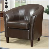 Coaster Club Chair in Rich Chocolate