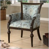 Coaster Accent Chair in Blue with Cappuccino Legs