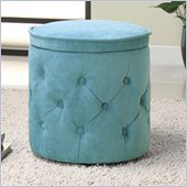 Coaster Circular Storage Ottoman in Light Blue