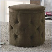 Coaster Circular Storage Ottoman in Coffee