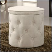 Coaster Circular Storage Ottoman in Beige
